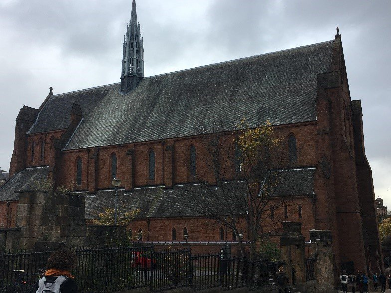 An old church now hosts PGDE student lectures on Strathclyde's downtown Glasgow campus.