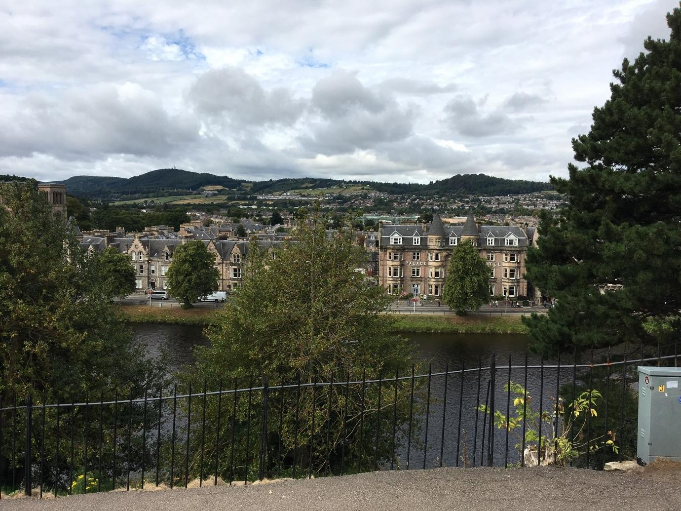 (View from Inverness Castle of the River Ness)
