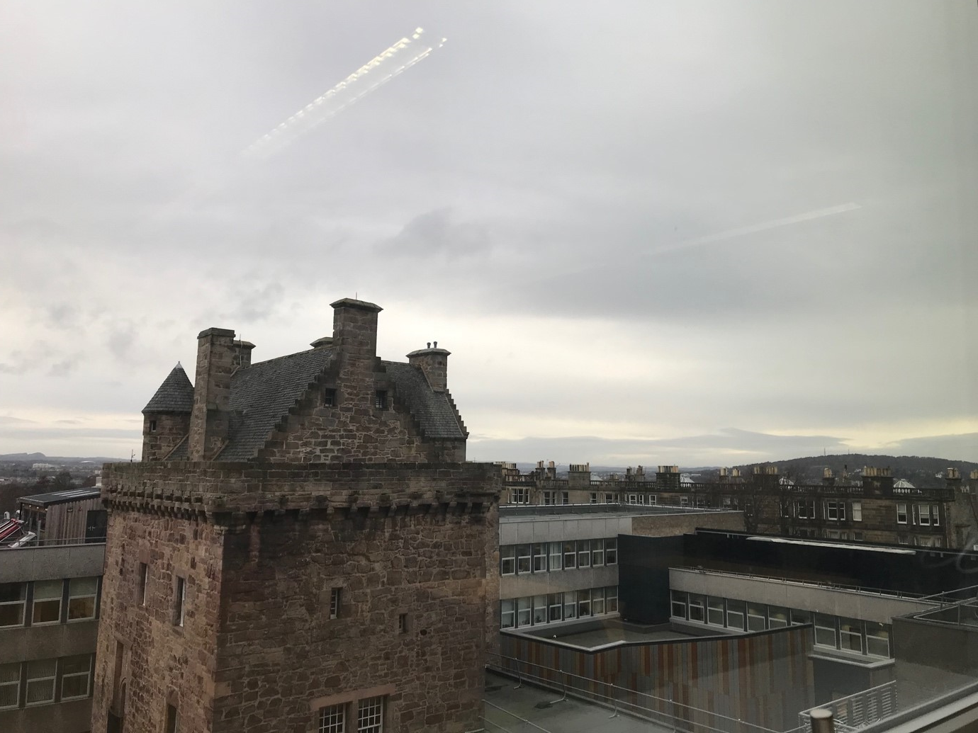 (View from Edinburgh Napier University's Merchiston Campus, where the Publishing program is held)