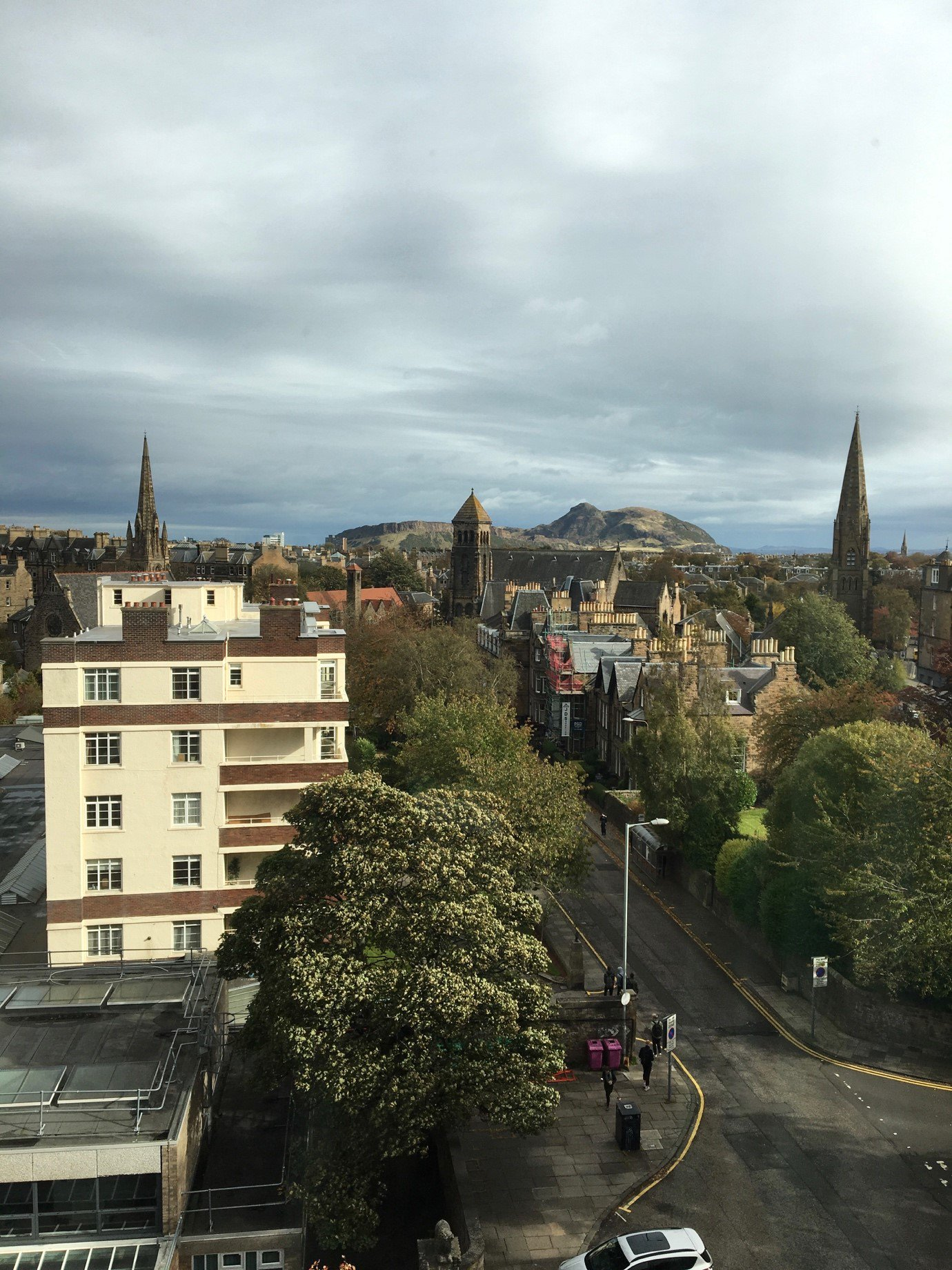 (View of Edinburgh from Edinburgh Napier University-Arthur's Seat in the background)